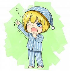 chibi Armin sleepy