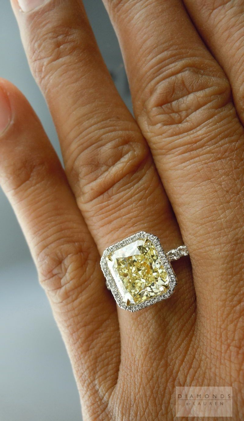 ring cut cz silver sterling bling bright jewelry engagement enticing canary yellow ca cushion v diamond