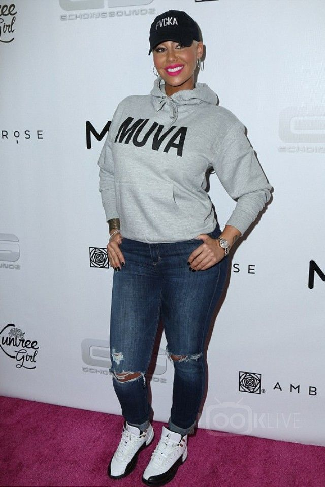 69a9296c9a8 Amber Rose - Attending her Takeover event at Dave   Buster s on in ...