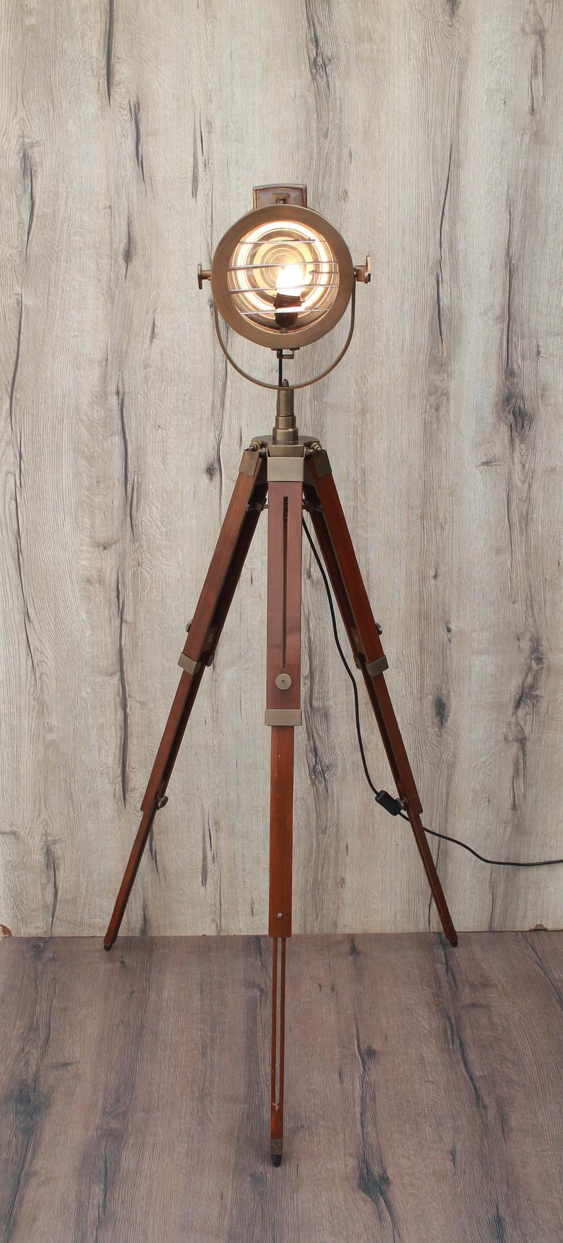 Vintage Antique Brown Shutter Series Adjustable Tripod Floor Etsy In 2020 Vintage Floor Lamp Tripod Floor Lamps Spotlight Floor Lamp