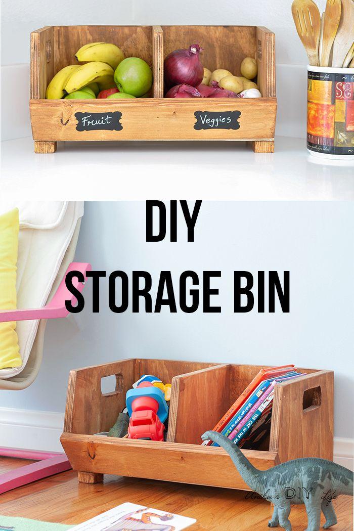 DIY Storage Bin using Scrap Wood -   19 diy Wood kids ideas