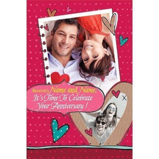 Personalized Anniversary Greeting Card Anniversary Greeting