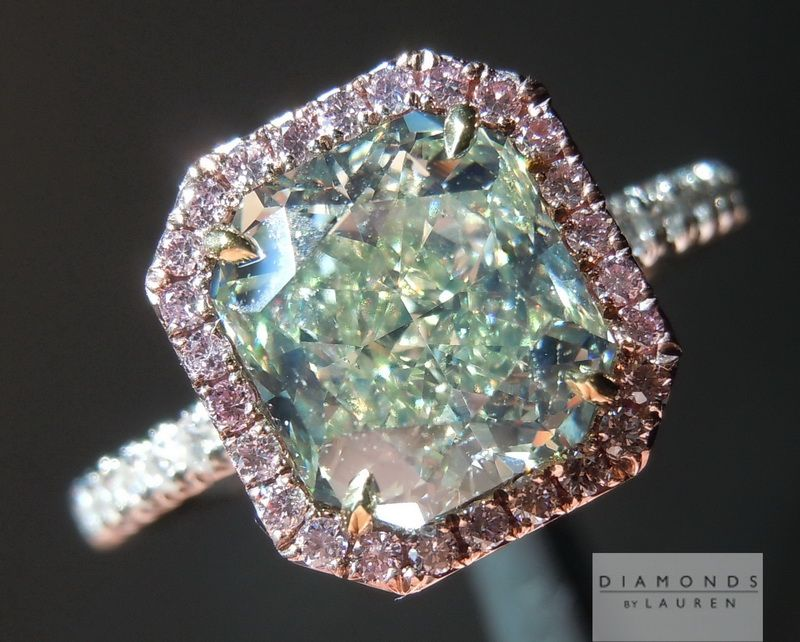 Yellow Green Diamond Ring-Diamonds by Lauren- Love it but out of my price range at $73,000