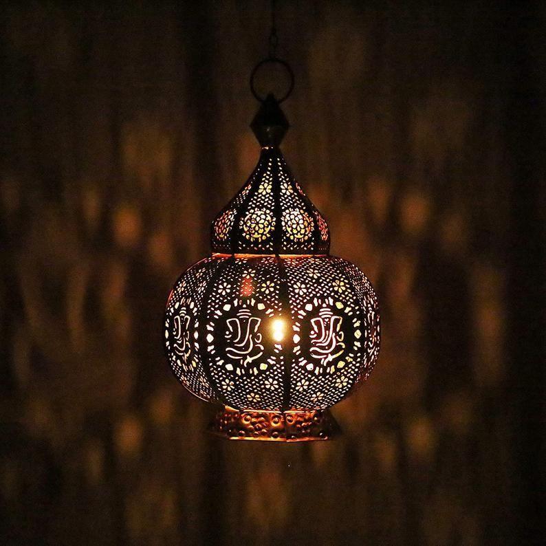 Ganesha Statement Moroccan Lamps Table Lamp Turkish Lamp Handmade Lamp Memorable Gift Night Lamp Spiritual Lamp Home Decor Candle Lamp In 2020 Turkish Lamps Moroccan Lamp Pendant Ceiling Light Fixtures