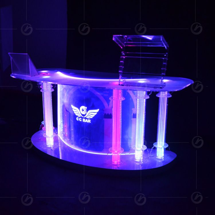 This Is A Acrylic Night Club Dj Facade, Night Bar Booth, Made Of Clear
