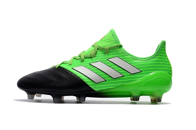 27345b852 2017-2018 FIFA World CUP New Soccer Cleats Adidas ACE 17 1 Leather FG Green  Black White