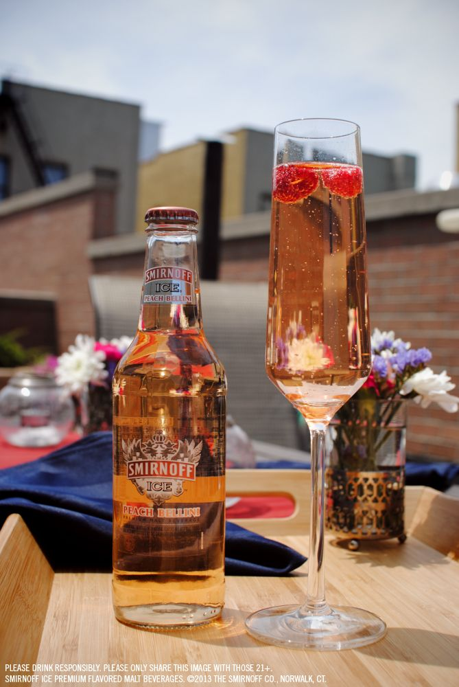 Wake up and taste a smirnoff ice peach bellini a perfect for Morning cocktails with vodka