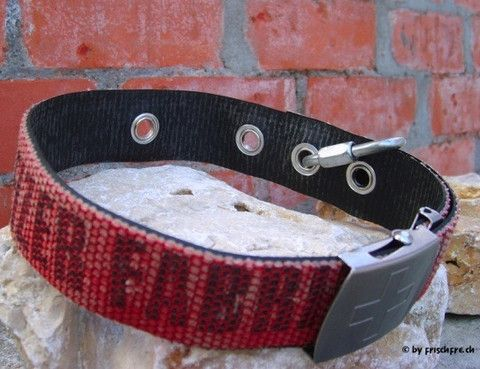 A Swiss Made Dog Collar Of Recycled Fire Hose Love It Fire