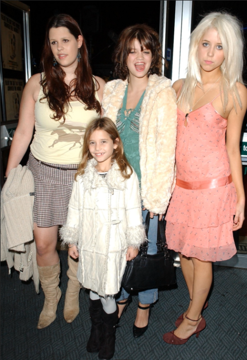 Peaches Geldof right with her sisters Fifi Trixibelle