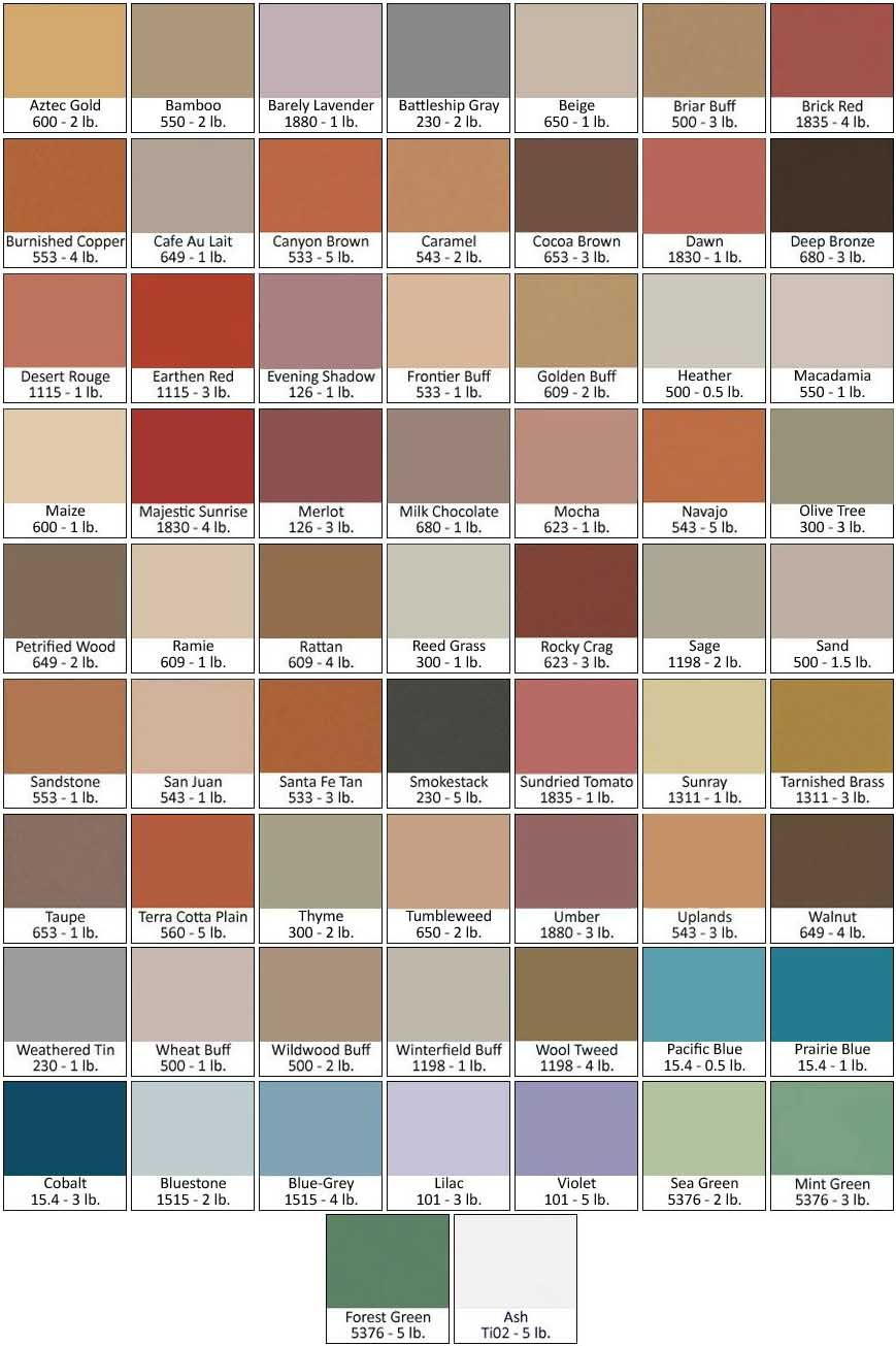Direct Colors Full Line of Concrete Pigment Colors for Gray ...