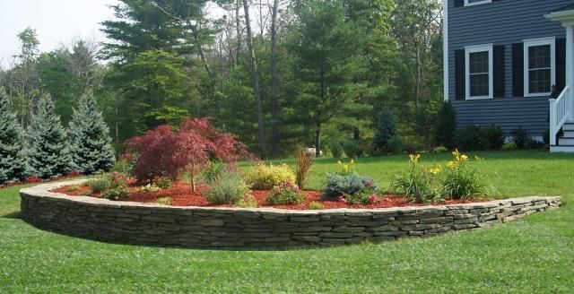 Charmant Retainer Wall And Decorative Plantings In Front Lawn To Enhance Curb Appeal