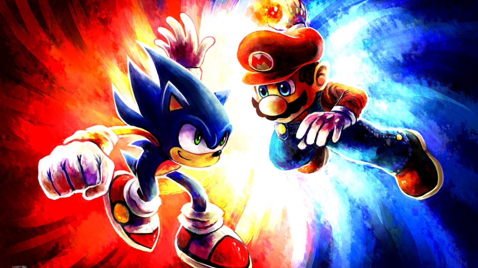 SonicWallpaper17B Sonic, Red and white, Cartoon wallpaper