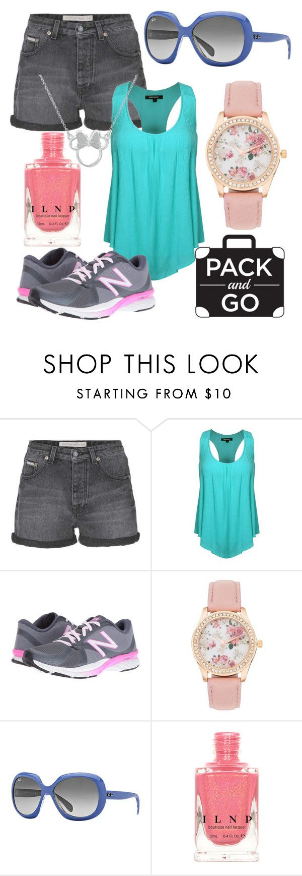 """Pack and Go Disney"" by professionalpest ❤ liked on Polyvore featuring Calvin Klein Jeans, New Balance, Ray-Ban and Disney"