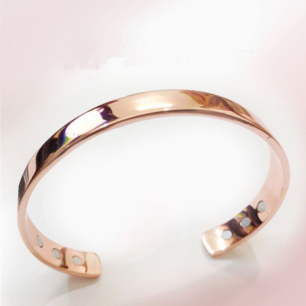 Pure copper magnetic bracelet plated gold energy health bio healthy