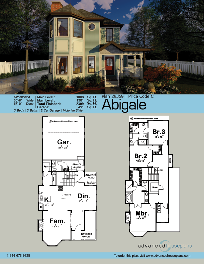 2 Story Victorian House Plan Abigale Victorian House Plans