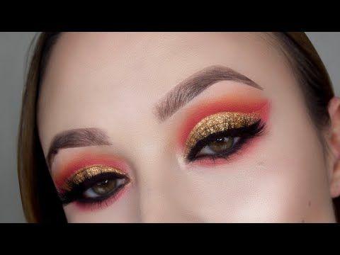 gryffindor makeup tutorial  hogwarts house makeup