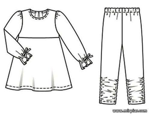 бесплатно пижамы из детской бурды выкройка