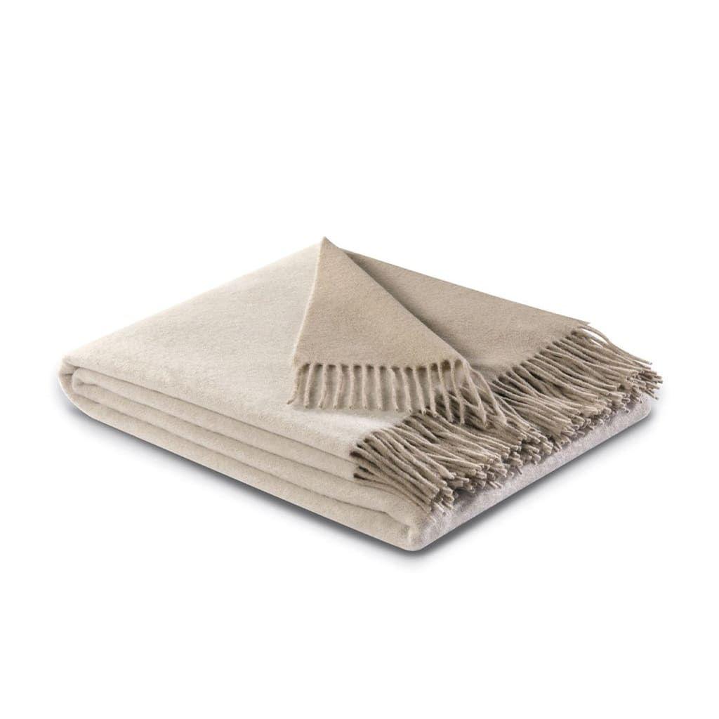 Wool/Cashmere Blanket - Cream