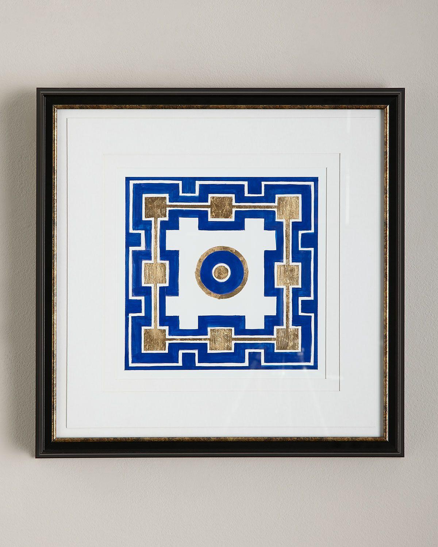 """""""Cobalt Maze Iii"""" Giclee, Blue"""