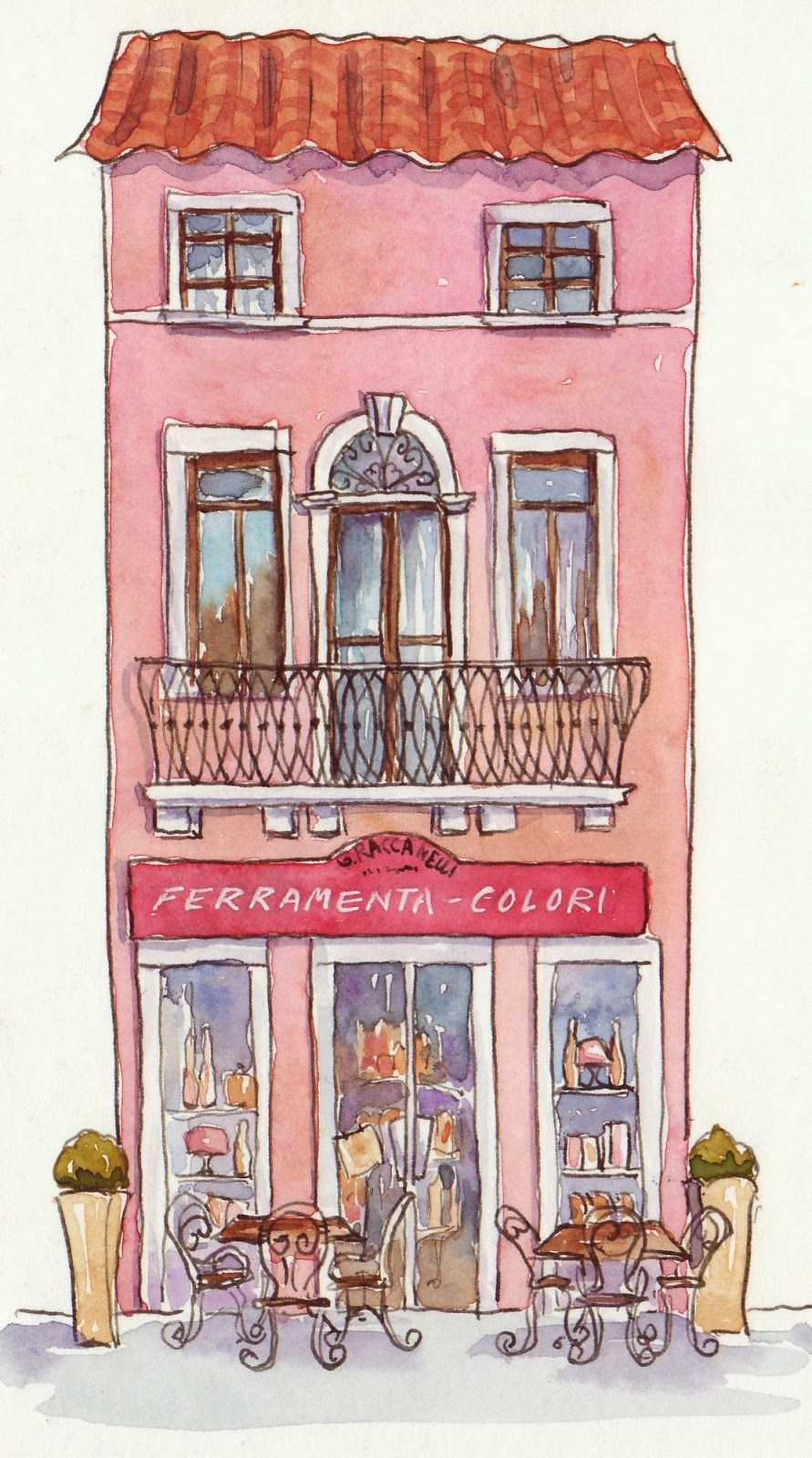 Image result for cute shop house watercolor painting | after school ...