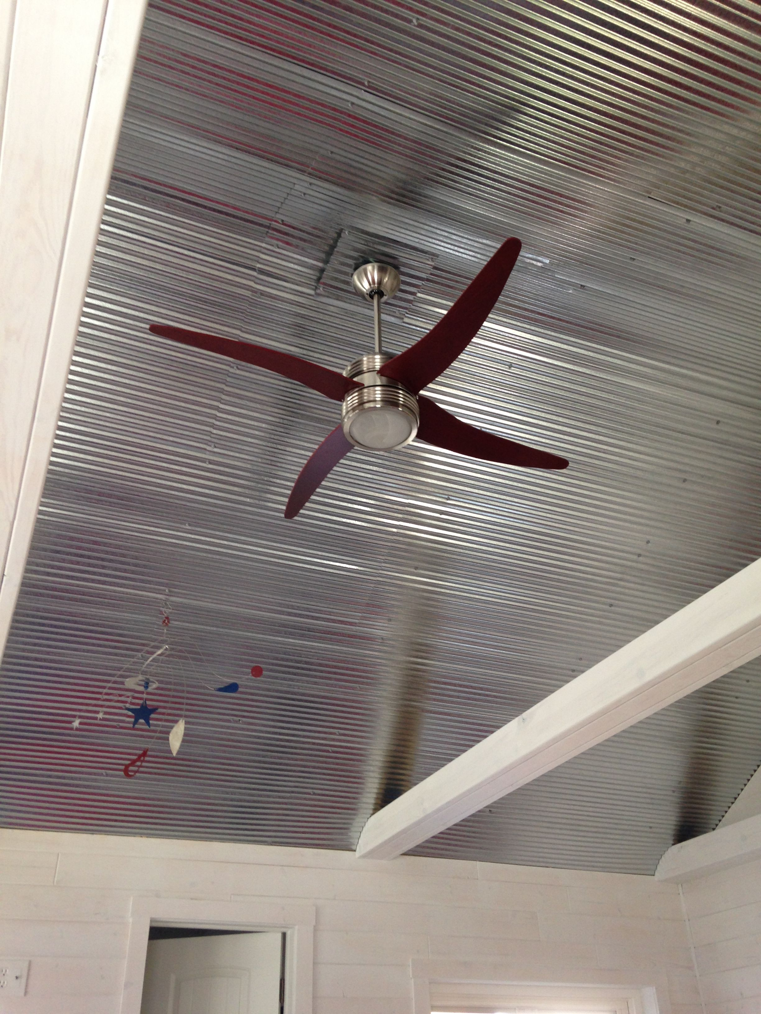Galvanized Steel Ceilings Never Need Painting Corrugated Tin Ceiling Tin Ceiling Basement Design