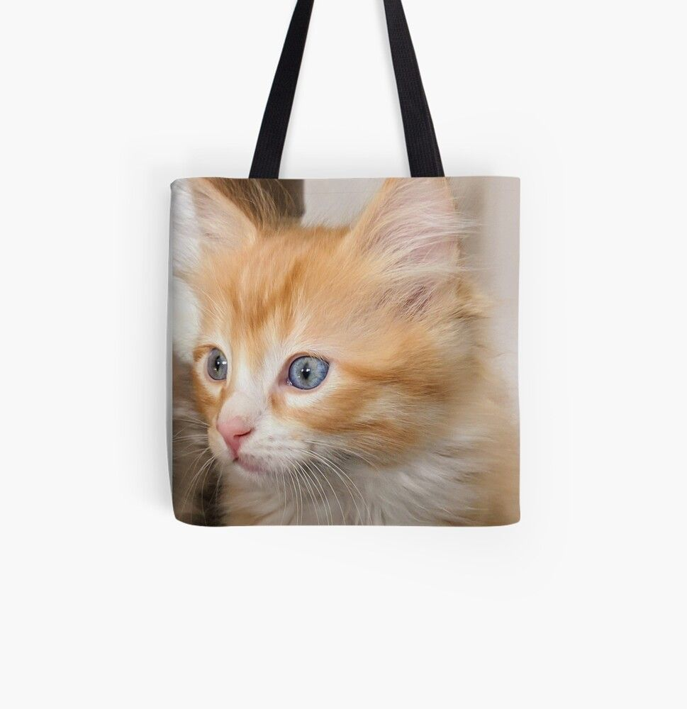 Fluffy Kitten Tote Bag By Fluffycat2020 In 2020 Fluffy Kittens Tote Bag Bags