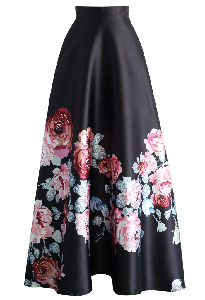 9ae34fe1c04 Endless Blooming Rose Maxi Skirt - New Arrivals - Retro