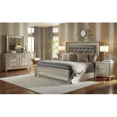 6Pc8808Diva66 Diva Champagne 6Piece King Bedroom Set  Master Glamorous Cal King Bedroom Sets Design Decoration