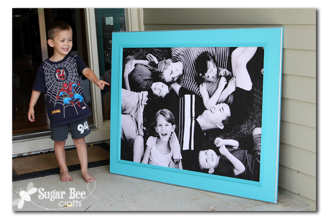 Giant Picture for cheap #DIY