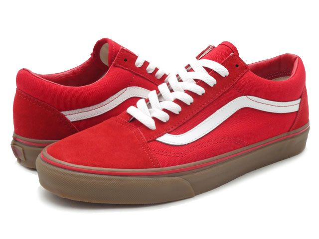 35c3a9c6a2 vans old skool red gum sole womens - Google Search