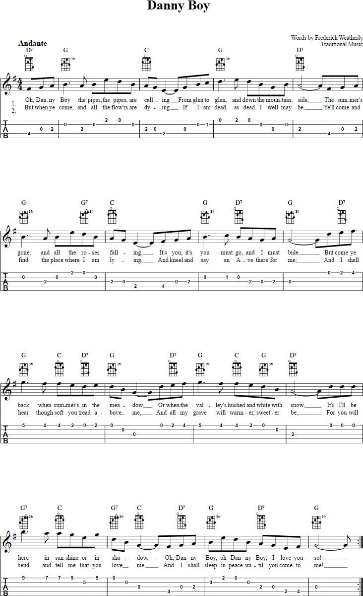 Danny Boy Banjo Tab Banjo Pinterest Mandolin Ukulele And Banjo