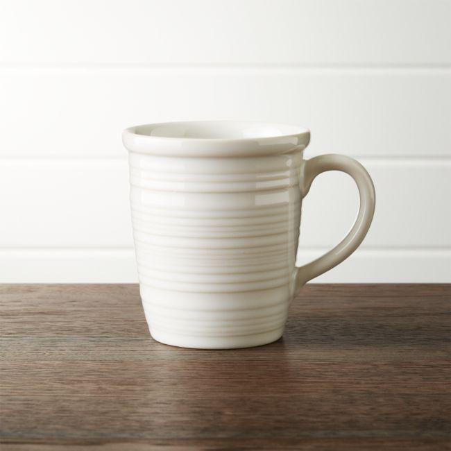 Farmhouse White Mug + Reviews | Crate and Barrel