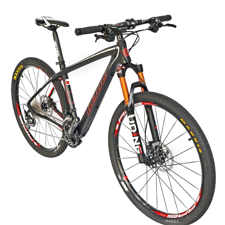 Amazon.com : BEIOU® Carbon Fiber 650B Mountain Bike 27.5-Inch 10.7kg ...
