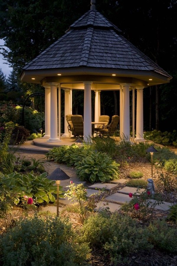 Outdoor Gazebo Lighting Unique How To Design Garden Lighting  & I Love The Way This Looks So Design Inspiration