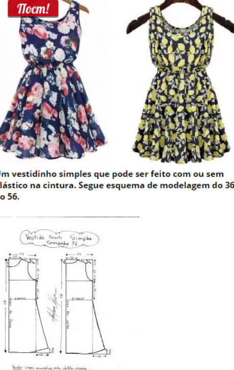 Vestido Regata Simples – DIY – molde, corte e costura – Marlene ...