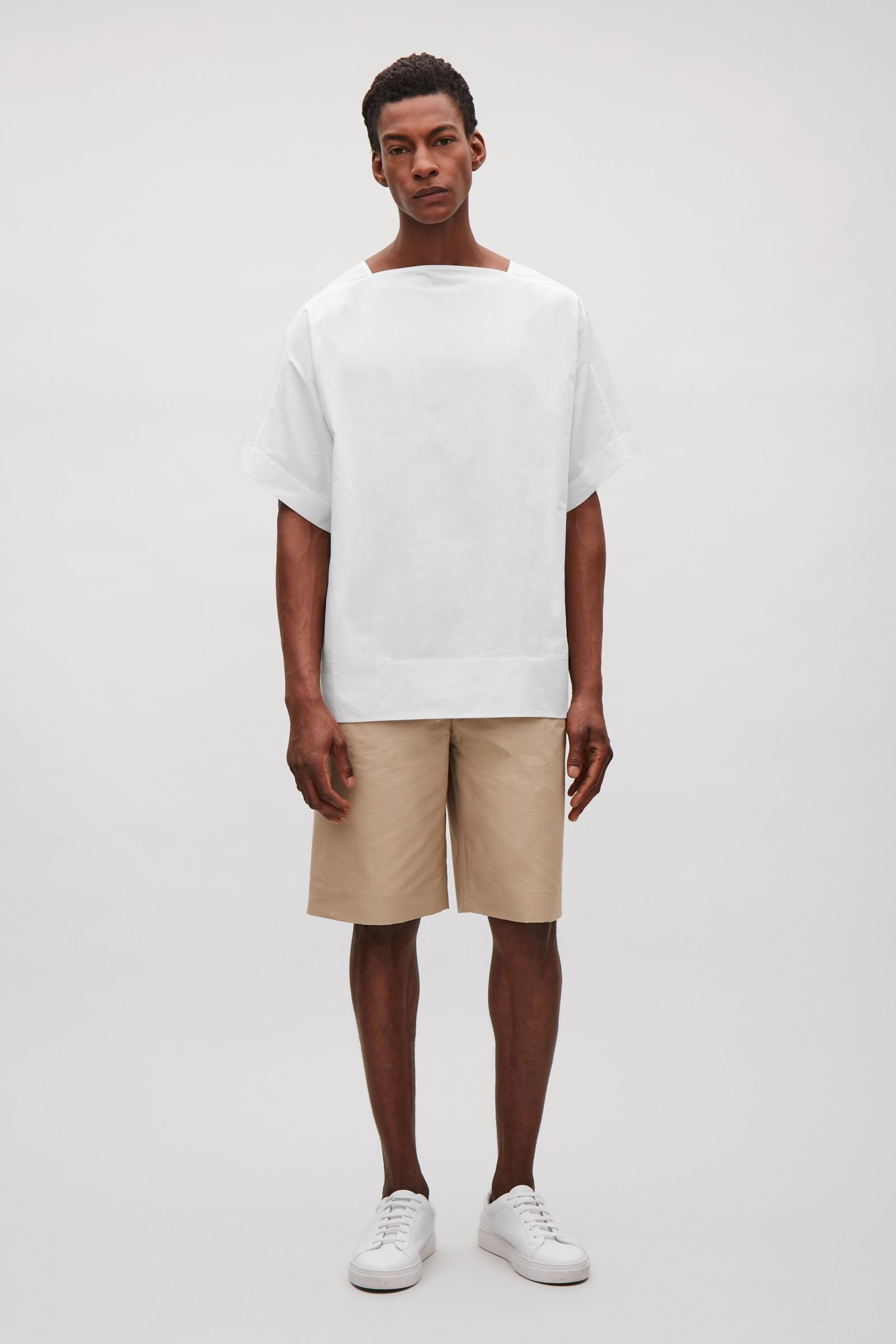 COS image 1 of Cotton poplin top in White