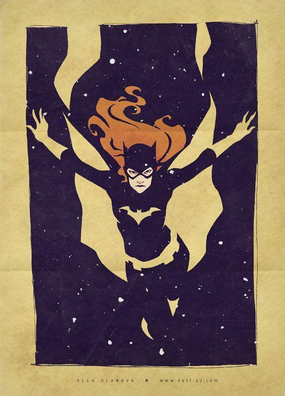 Retro Batgirl by Olga Ulanova via Geek Tyrant