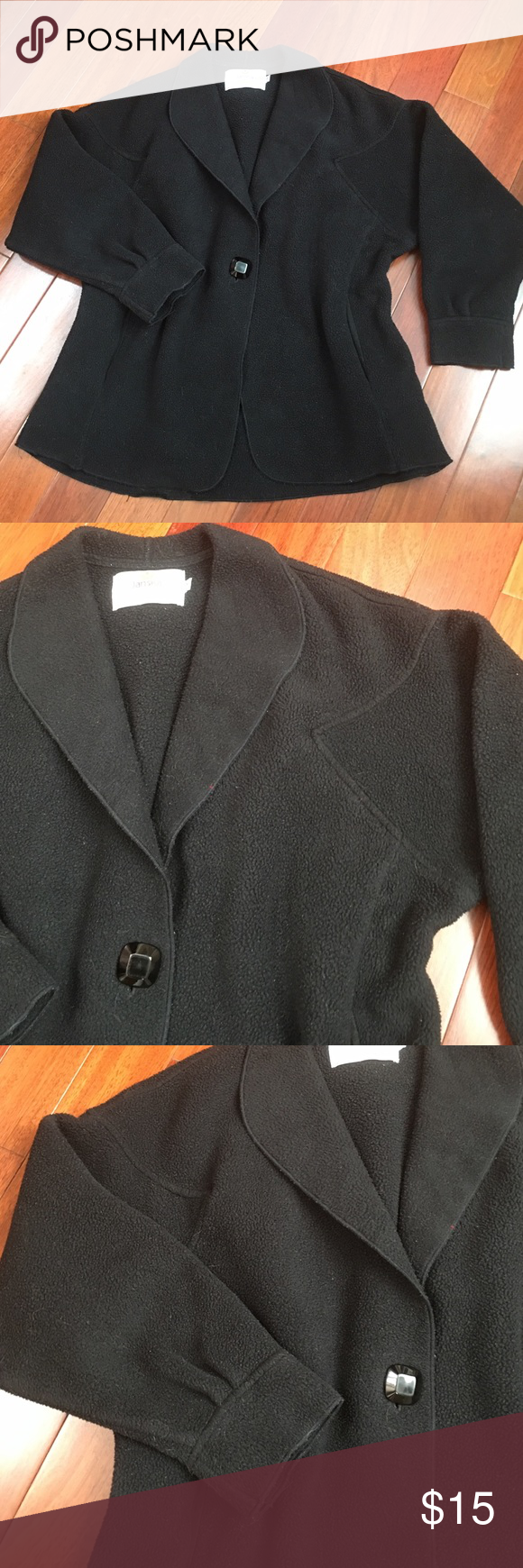 Janska fleece cozy jacket arm pits conditioner and front button