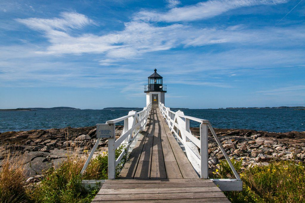 Maine States in america, Mount desert island, Moving to