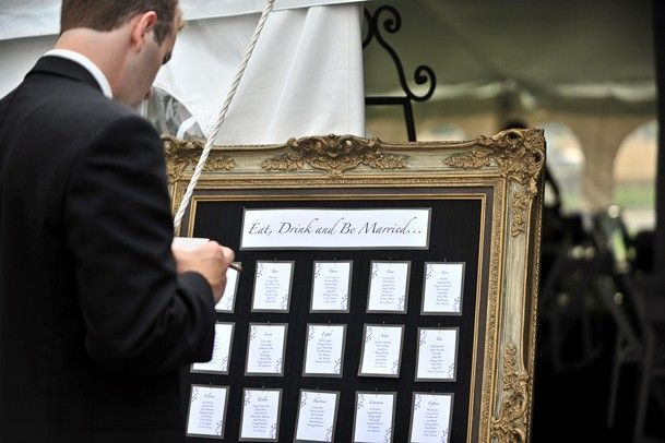 gold-picture-frame-seating-chart-wedding Wedding Ideas - wedding charts