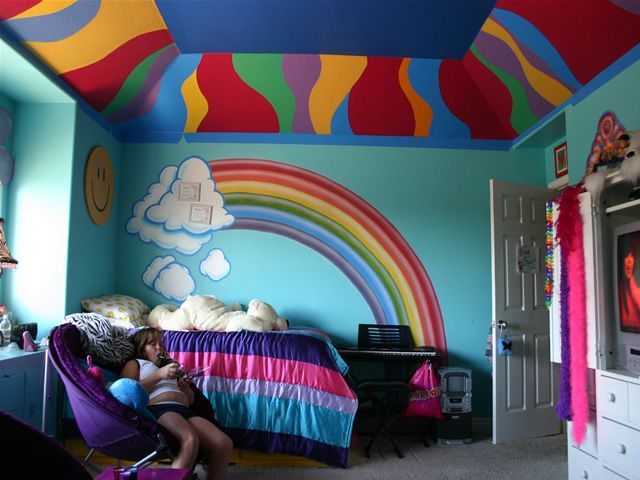Charmant Rainbow Hippy Kidu0027s Bedroom | Mural   Danville, ...