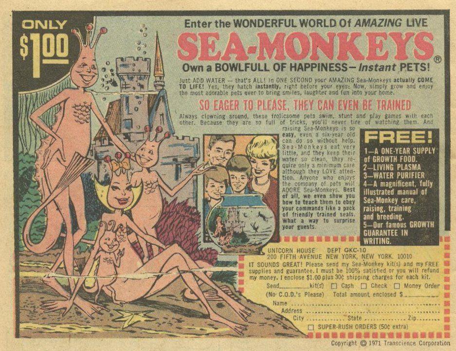 1972 Sea Monkeys Ad Sea Monkeys My Childhood Memories
