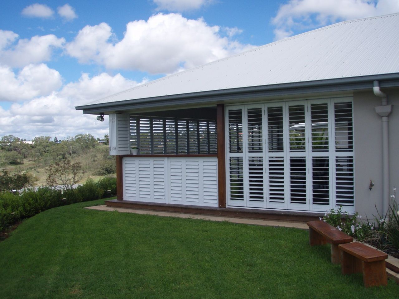 Exterior Pictures Of Enclosed Porch In 2020 Outdoor Shutters Outdoor Blinds Patios Outdoor Blinds