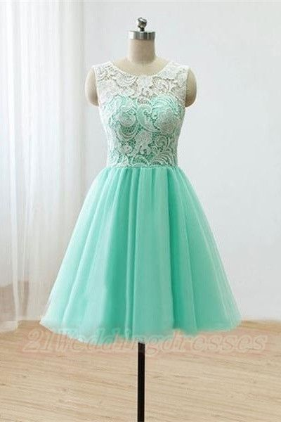13f1a52804 Top Selling Cute Mint Handmade Lace Homecoming Dresses For Teens  http   21weddingdresses.