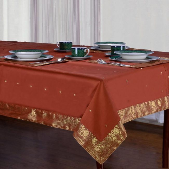 Dress Your Table In The Old World Opulence Of Indian Selectionu0027s Hand Made  Sari Table Linen. These Table Cloths Feature A Pattern Inspired By The  Royal ...