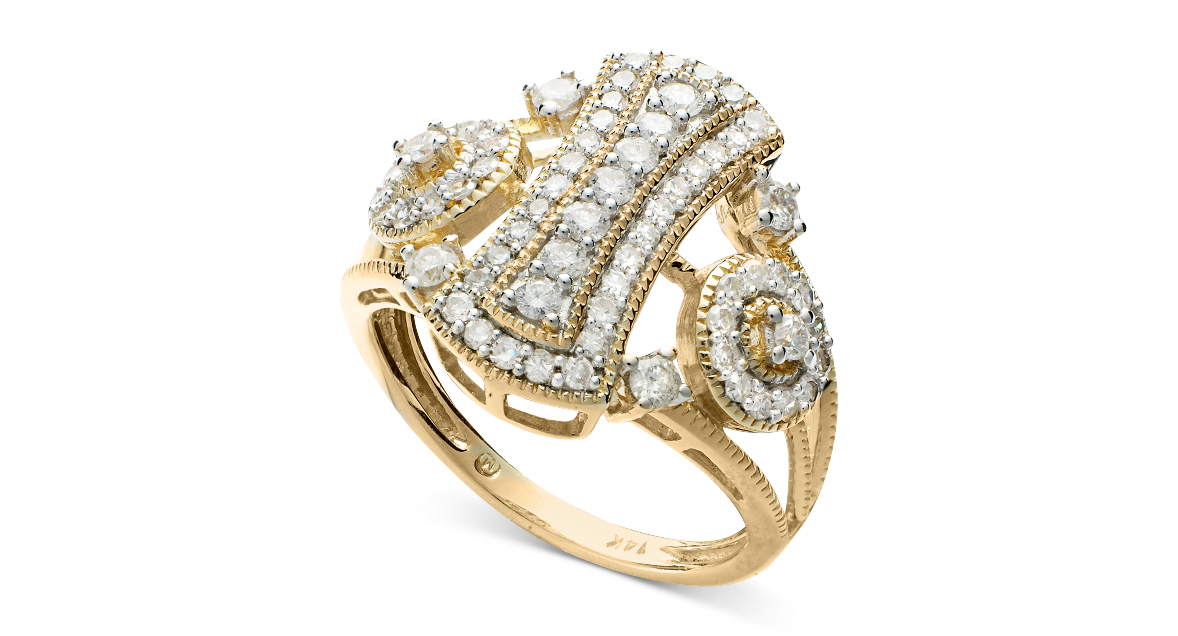 Wrapped in Love Diamond Cluster Ring in 14k Gold (3/4 ct. t.w.)