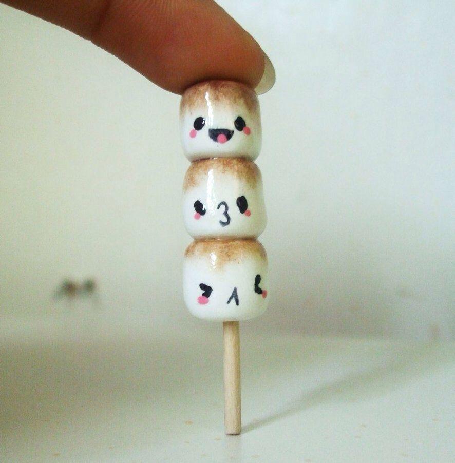Kawaii polymer clay marshmallows