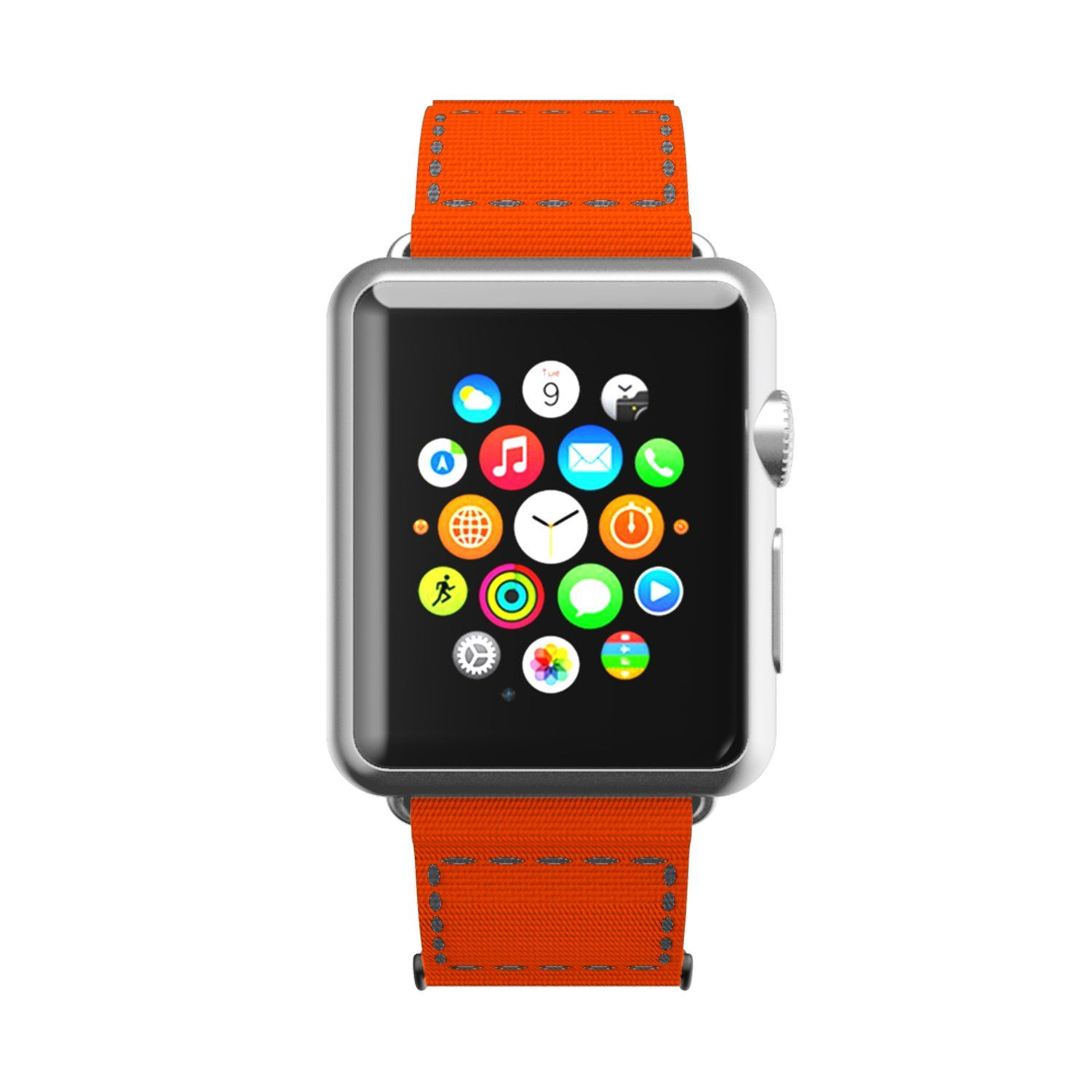 Incipio Smartwatch Replacement Band For Apple Watch 42mm Orange Gray Stitching Find Out More About The Great Product At Apple Watch Apple Watch 42mm Apple