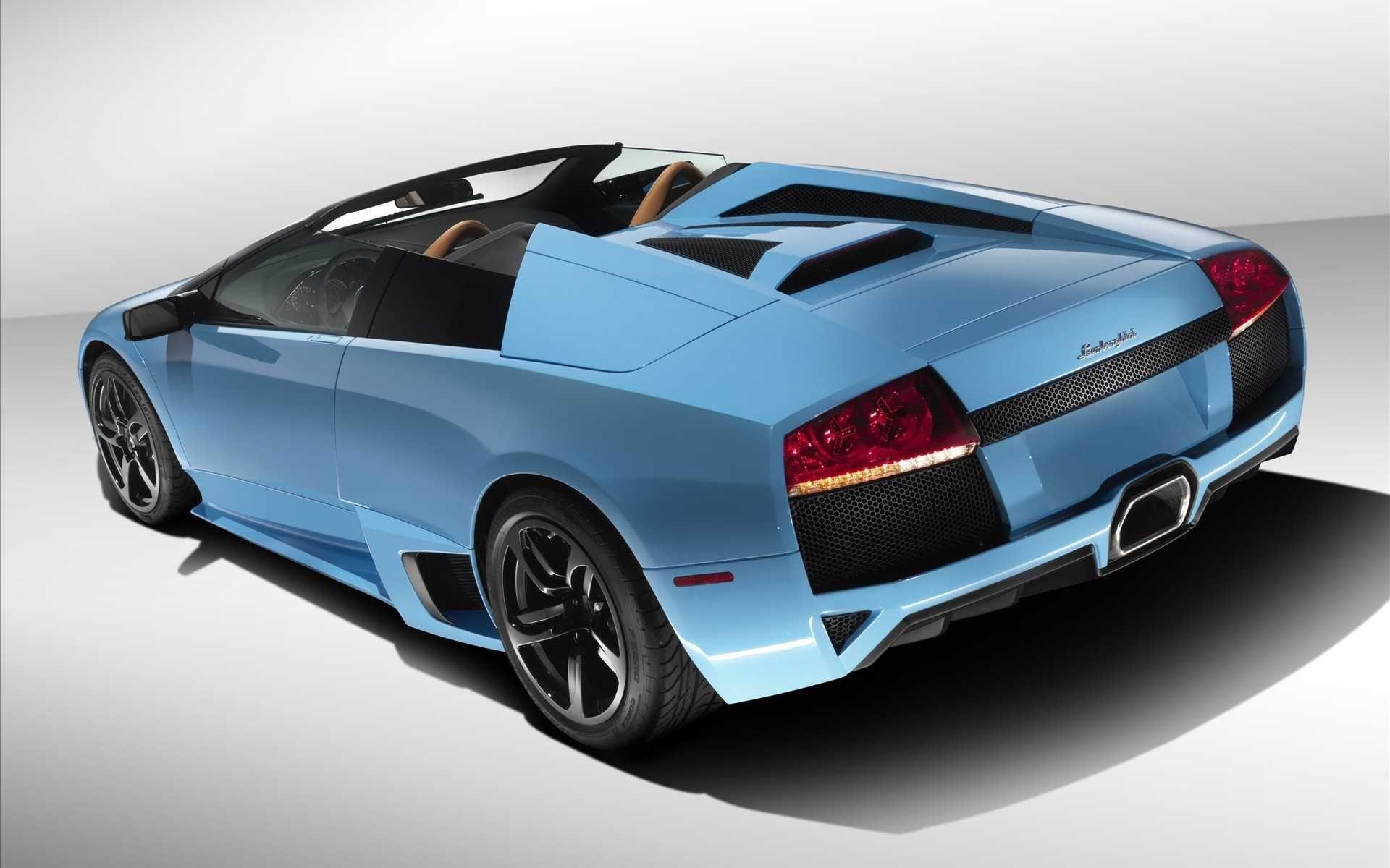Of Top Popular Lamborghini Murlago Blue Car Back Side Cars Hd Smart