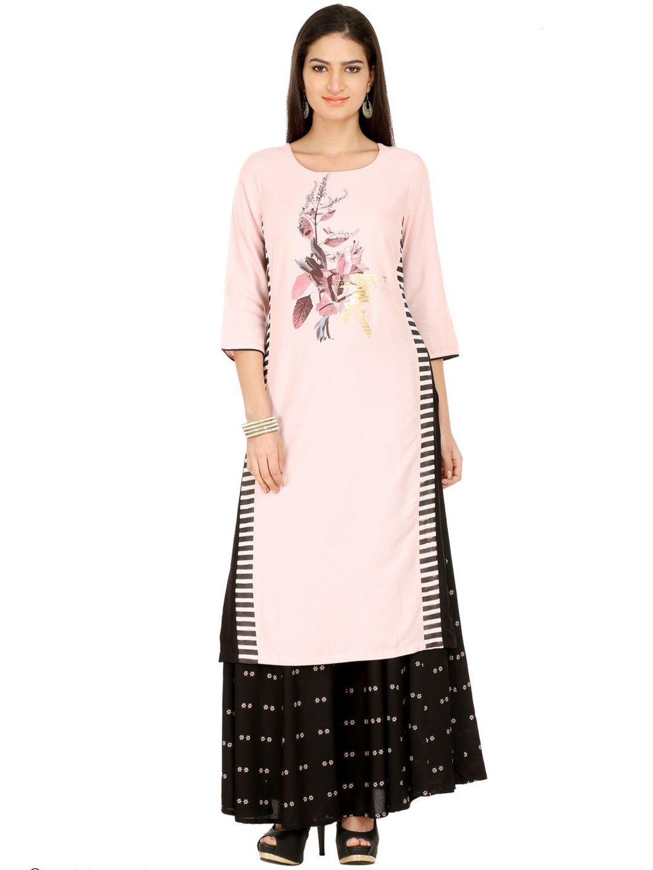 7a1e5af7a316b W Printed Pink Cotton Kurti | Buy Designer Tunic & Kurtis at G3 ...